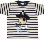 T-SHIRT Rayé pirate tricorne enfant